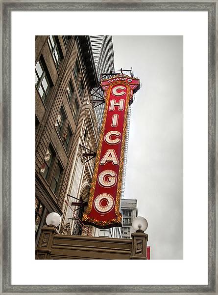 Chicago Theater Marquis Framed Print