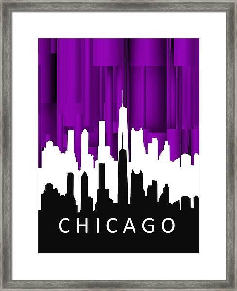 Chicago Violet In Negative Framed Print