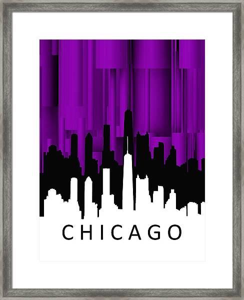 Chicago Violet Vertical  Framed Print
