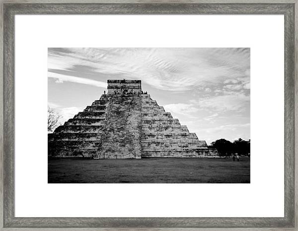Chichen Itza B-w Framed Print