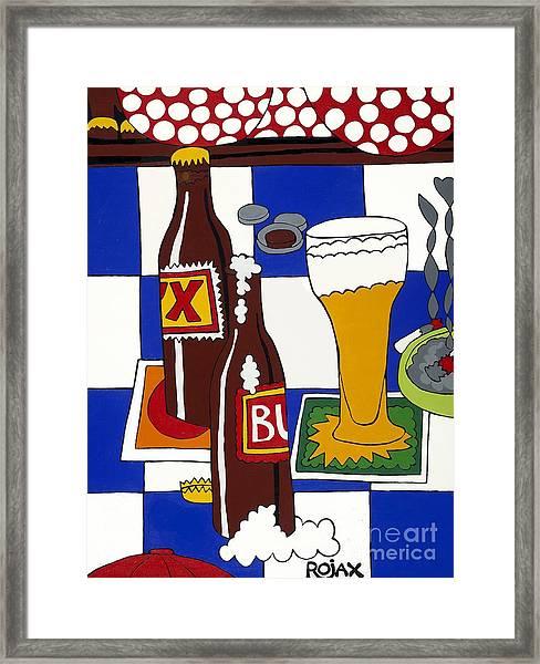 Chichis Y Cervesas Framed Print
