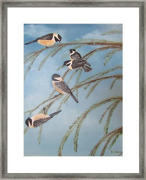 Chickadee Party Framed Print