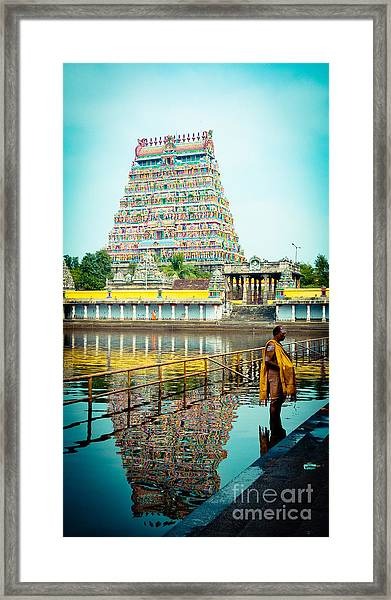 Framed Print featuring the photograph Chidambaram Temple Lord Shiva India by Raimond Klavins