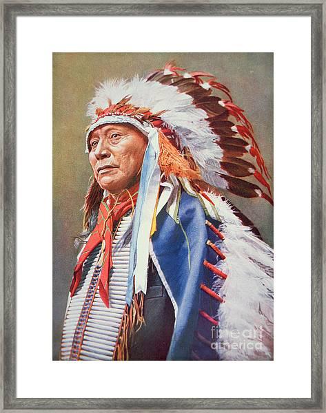 Chief Hollow Horn Bear Framed Print