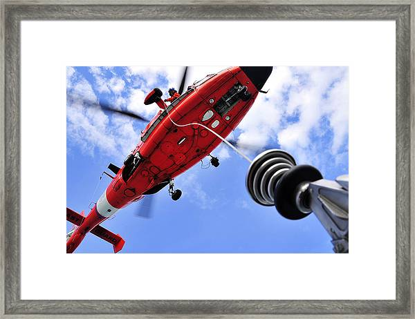 Chief Petty Officer Looks Out The Door Framed Print