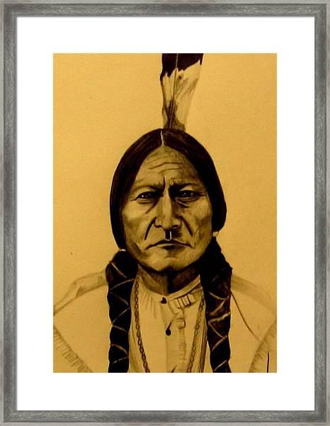 Chief Sitting Bull  Tatanka Iyotake Framed Print