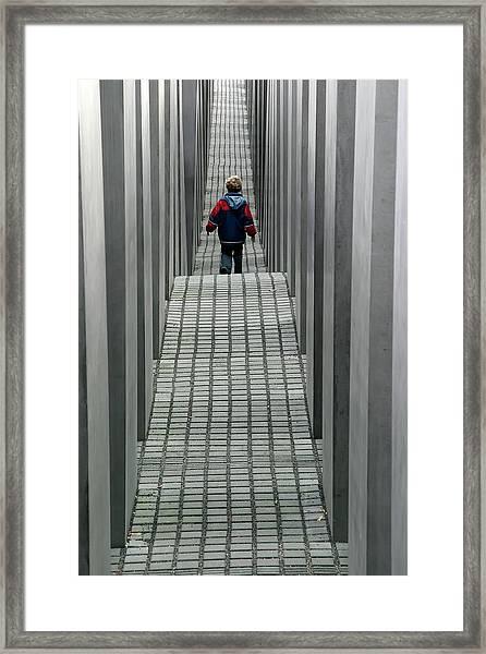 Child In Berlin Framed Print