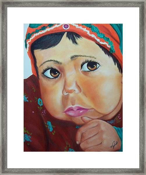 Child Of Afghanistan Framed Print by Joni McPherson