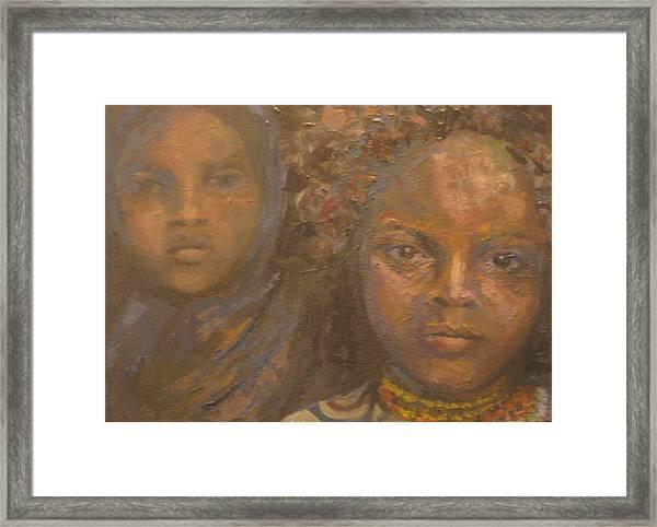 Children Of Sorrow Framed Print by Connie Freid