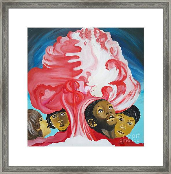 All God's Children.             Children Of The Nuclear Age Framed Print
