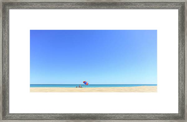 Framed Print featuring the photograph Chilling At Cable Beach by Chris Cousins