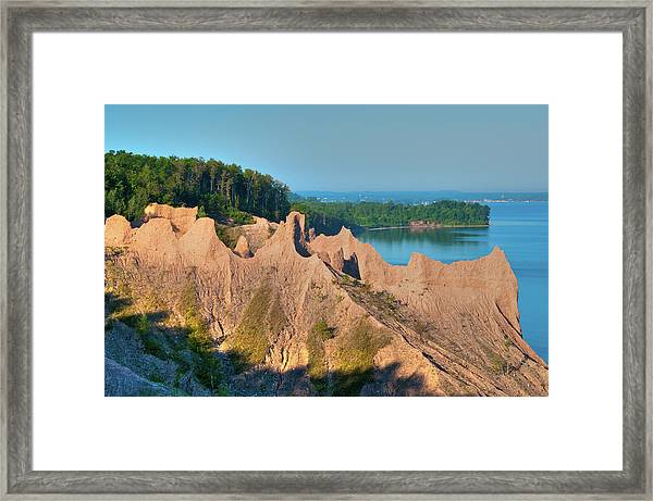 Chimney Bluffs 1750 Framed Print