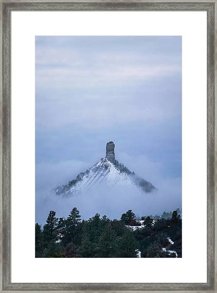 Framed Print featuring the photograph Chimney Rock Rising by Jason Coward
