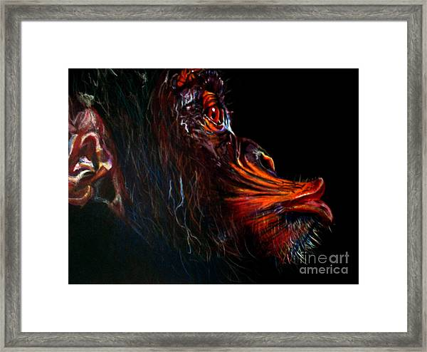 Chimpanzee In Color Framed Print