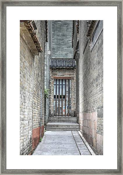China Alley Framed Print