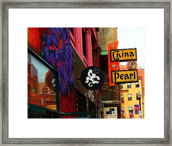 China Pearl Sign, Chinatown, Boston, Massachusetts Framed Print