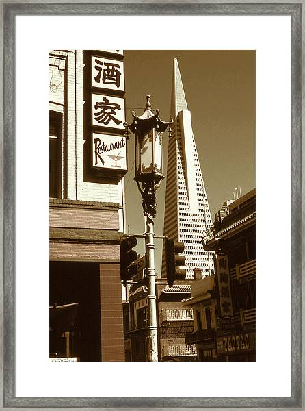 Chinatown San Francisco - Vintage Photo Art Framed Print