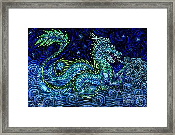 Chinese Azure Dragon Framed Print