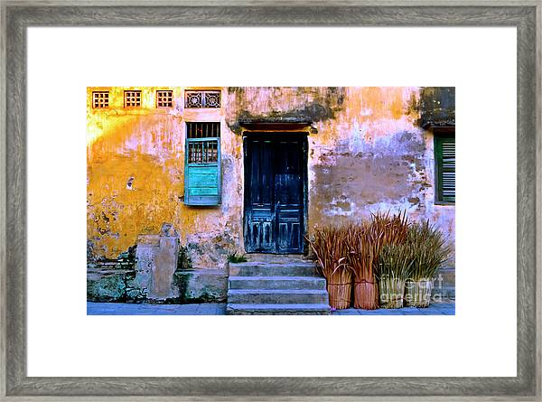 Chinese Facade Of Hoi An In Vietnam Framed Print