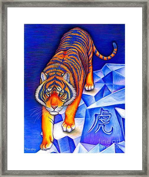 Chinese Zodiac - Year Of The Tiger Framed Print