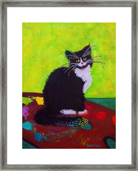 Ching - The Studio Cat Framed Print by Valerie Aune