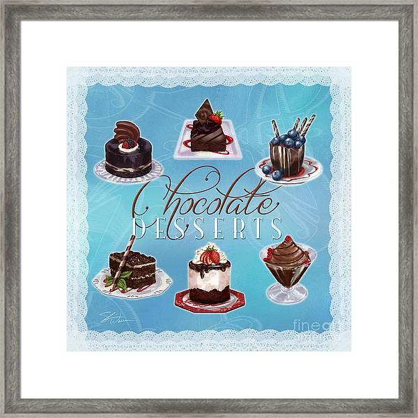 Chocolate Desserts Framed Print