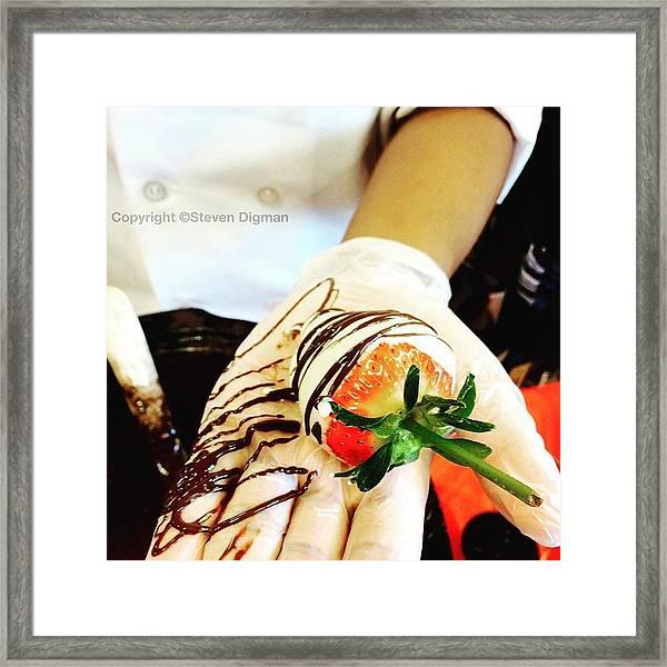 Chocolate Strawberries   Framed Print