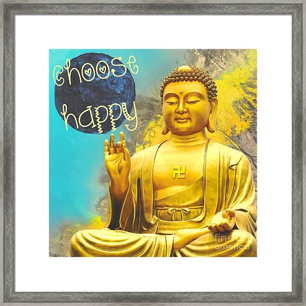 Choose Happy Framed Print