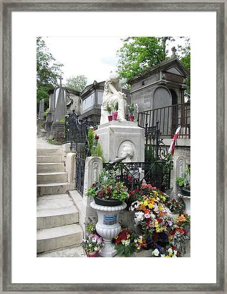 Chopin Grave Paris Framed Print