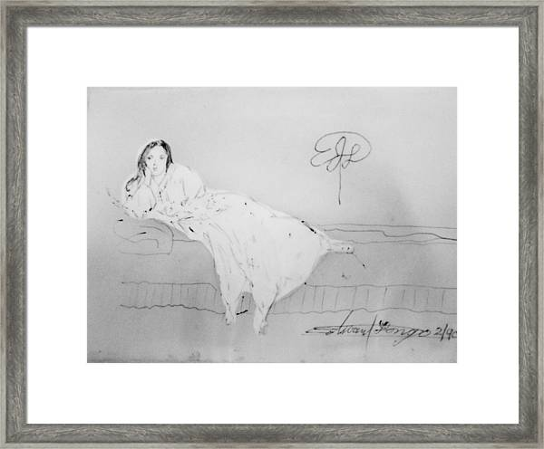 Chopin's Woman Framed Print