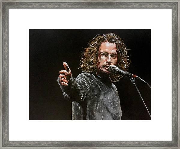 Chris Cornell Framed Print
