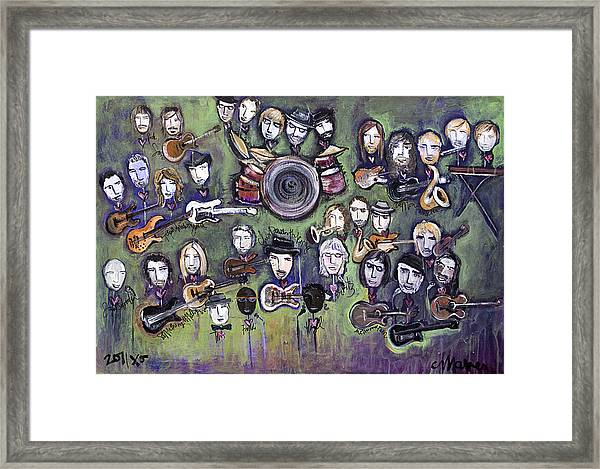 Framed Print featuring the painting Chris Daniels And Friends by Laurie Maves ART