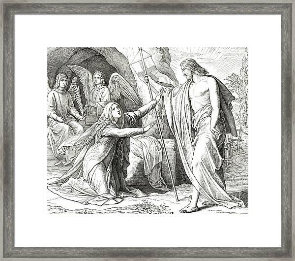 Christ Appears To Mary Magdalene Framed Print