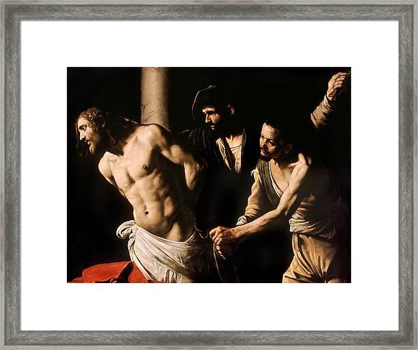 Christ At The Column Framed Print