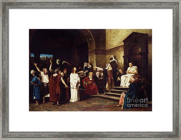 Christ Before Pilate Framed Print