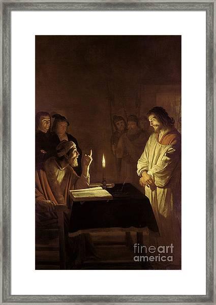 Christ Before The High Priest Framed Print