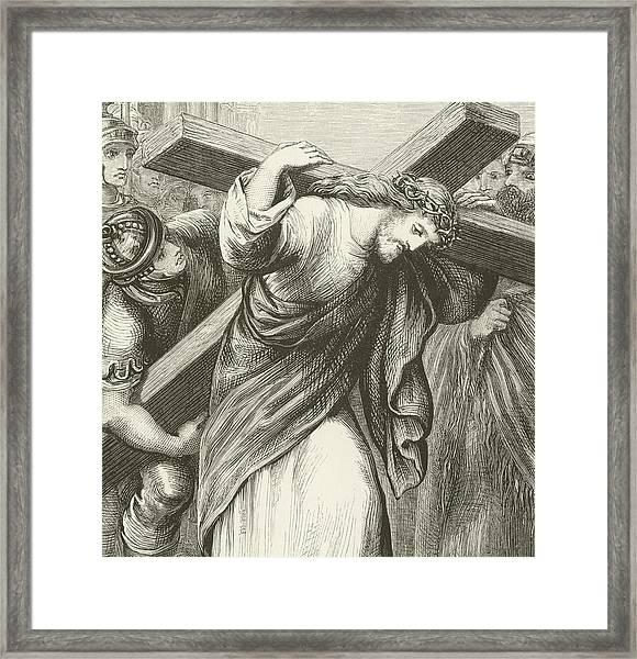 Christ Carrying His Cross Framed Print
