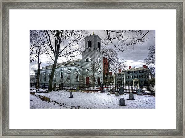 Christ Church In Cambridge Framed Print