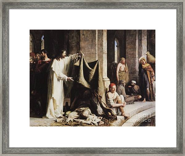 Christ Healing The Sick At The Pool Of Bethesda Framed Print