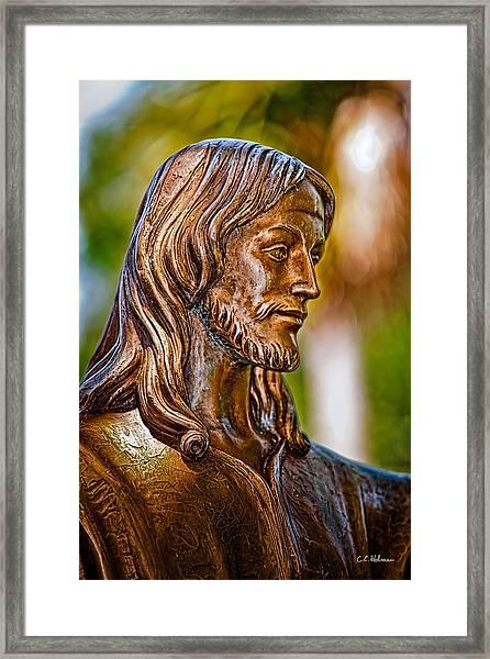 Christ In Bronze Framed Print