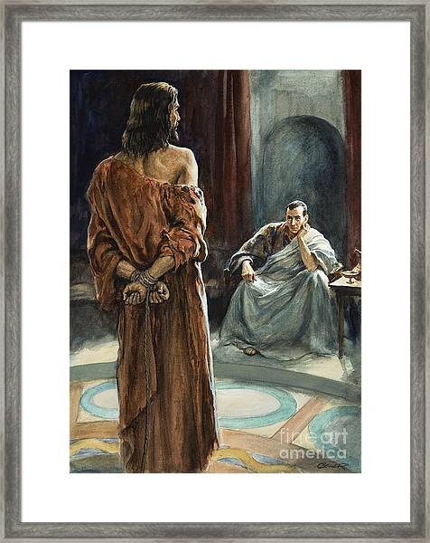 Christ In Front Of Pontius Pilate Framed Print