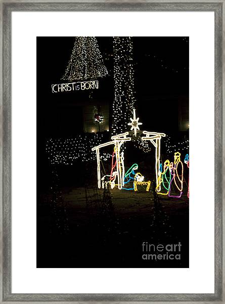 Christ Is Born Framed Print by Affini Woodley