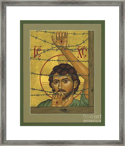 Christ Of Maryknoll - Rlcom Framed Print