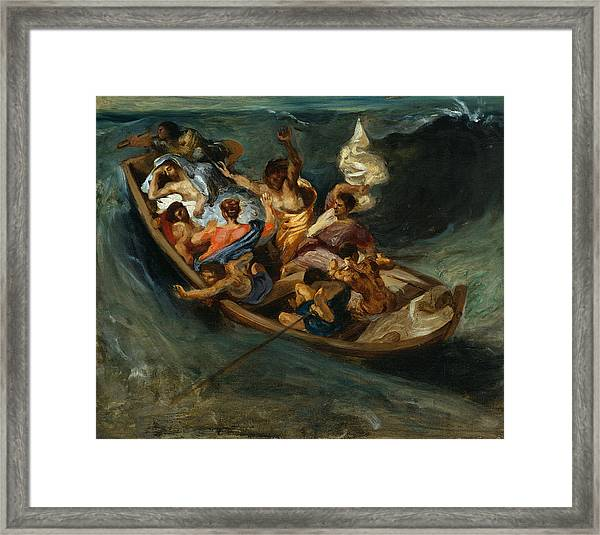Christ On The Sea Of Galilee Framed Print
