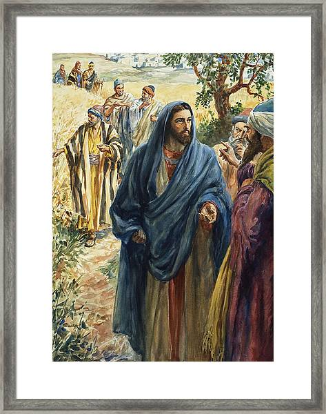 Christ With His Disciples Framed Print