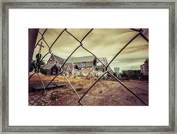 Framed Print featuring the photograph Christchurch Cathedral by Chris Cousins