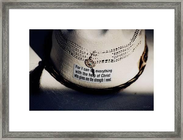 Christian Cowboy Framed Print