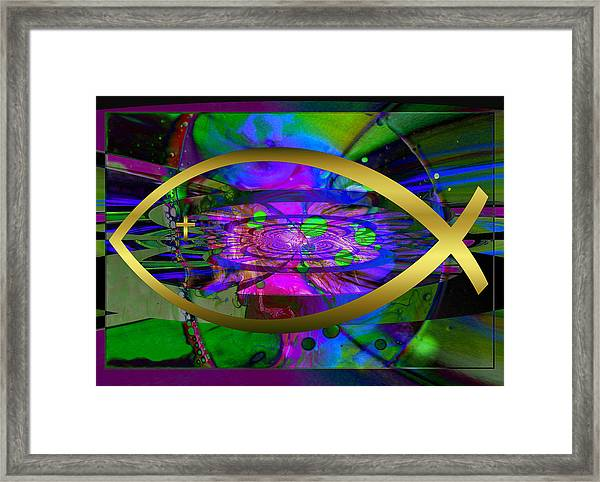 Christian Fish Ichthus Framed Print