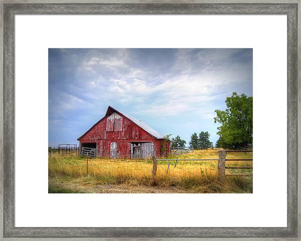 Christian School Road Barn Framed Print