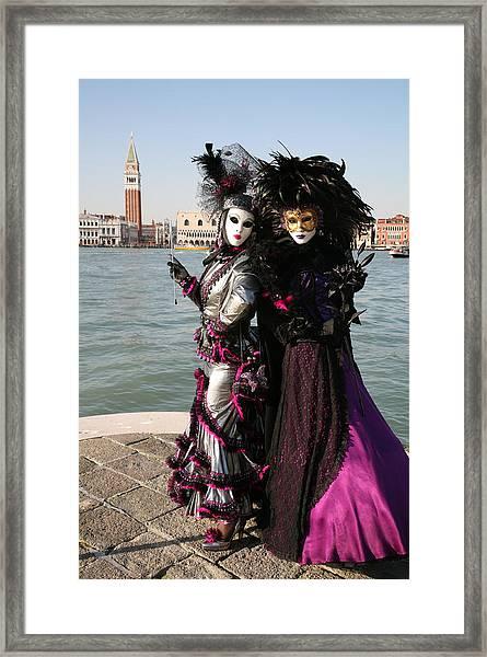 Christine And Gunilla Across St. Mark's  Framed Print